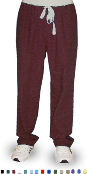 A+ Microfiber Pant 1 back pocket reversible no elastic cord only unisex - A Plus Medical Scrubs