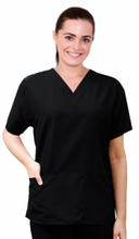 Load image into Gallery viewer, A+ Microfiber Scrub Top 2 Pocket Half Sleeve Unisex - A Plus Medical Scrubs