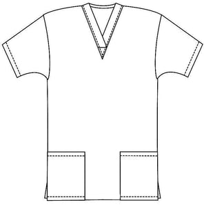Scrub set 4 pocket solid ladies half sleeve (2 pocket top and 2 pocket pant) - A Plus Medical Scrubs