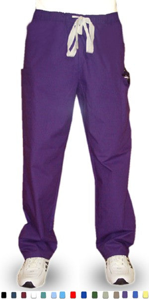 A+ Microfiber Pant 2 cargo pocket waistband with elastic and drawstring both unisex - A Plus Medical Scrubs