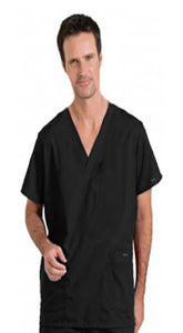 Scrub set 4 pocket solid unisex cargo with pencil pocket top half sleeve (1 pkt top with pencil pkt, 1cargo pkt 1 back pkt pant) - A Plus Medical Scrubs