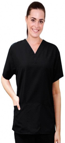 A+ Microfiber Scrub Top 2 Pocket Half Sleeve Unisex - A Plus Medical Scrubs
