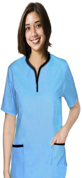 A+ Microfiber set 5 pocket ladies half sleeve tunic style solid - A Plus Medical Scrubs