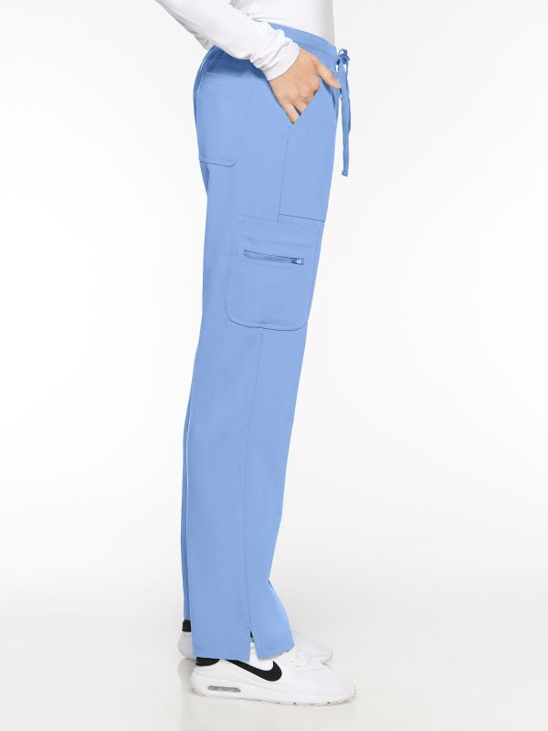 Womens Pant Yoga Pant with 9 Pockets – Petite (93002P) - A Plus Medical Scrubs