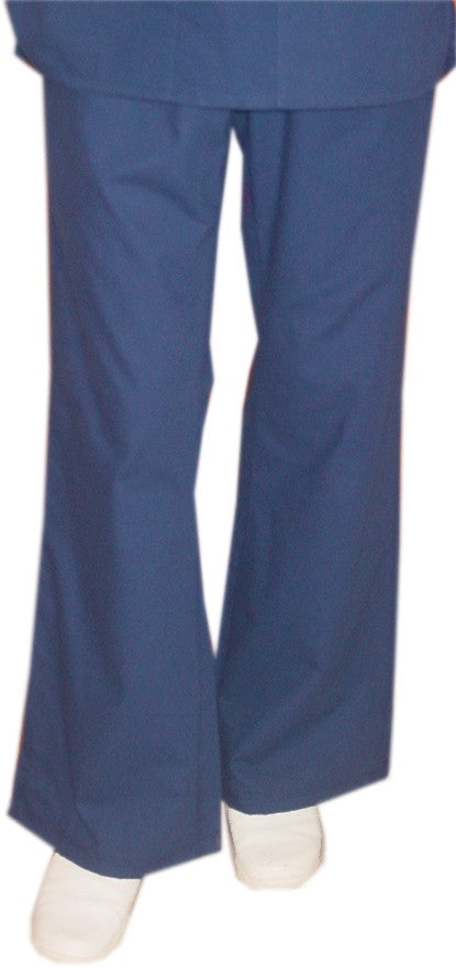A+ Microfiber Pant 2 side pockets flare leg waistband with drawstring and elastic both ladies - A Plus Medical Scrubs