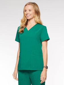 Womens Top Classic V-Neck with 6 Pockets (94001) - A Plus Medical Scrubs