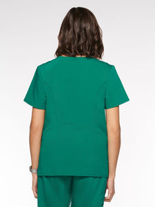 Womens Top Mock Wrap with 6 Pockets (94003) - A Plus Medical Scrubs