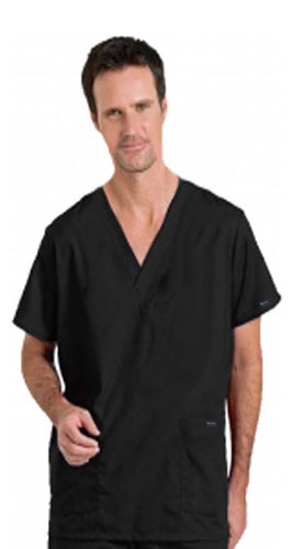 2019 4 pocket solid unisex half sleeves (2 pkt top, 2 pkt pant elastic drawstring pant) - A Plus Medical Scrubs