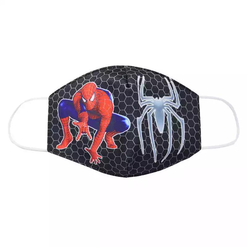Disney Marvel Spiderman Children's Face Maks Spiderman Cotton Anti-Dust Protective Masks for boys girl toys 3-10Y