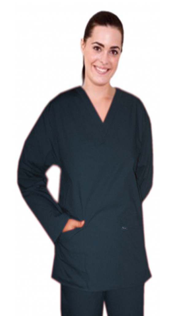 Scrub set 4 pocket solid ladies full sleeve (2 pocket top and 2 pocket pant) - A Plus Medical Scrubs