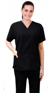 Microfiber scrub set 4 pocket half sleeve ladies (2 front pocket top & 2 side pocket pant) - A Plus Medical Scrubs