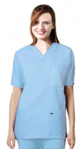 Scrub set 9 pocket unisex solid half sleeve (3 pocket top 6 pocket pant) - A Plus Medical Scrubs