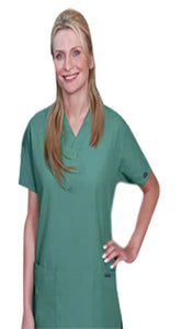Scrub set $9.75 3 pocket normal ladies solid half sleeve (2 pocket top 1 pocket pant) - A Plus Medical Scrubs