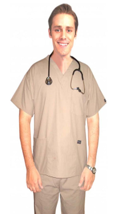A+ 4 pocket solid unisex half sleeve (3 pocket top with normal 1 pocket pant) - A Plus Medical Scrubs