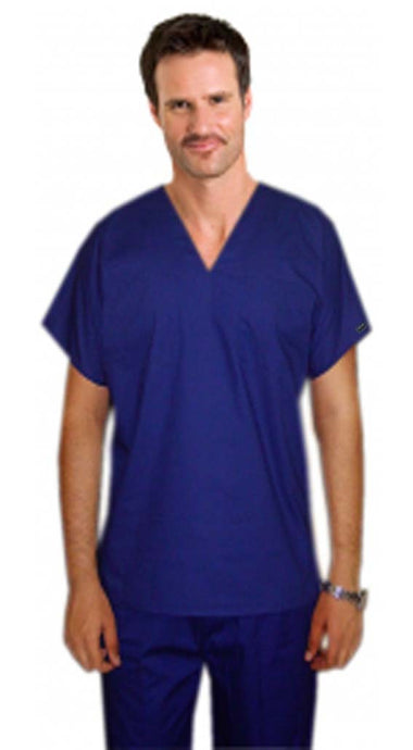4 pocket v neck unisex reversible half sleeve (1 pocket top 1 pocket pant) & 2 inside pockets - A Plus Medical Scrubs