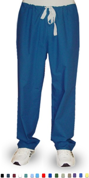 A+ Microfiber Pant 1 back pocket no elastic cord only unisex - A Plus Medical Scrubs