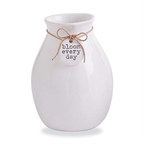 Mud Pie Gifts Ceramic Tag Bud Vase w Bloom Every Day