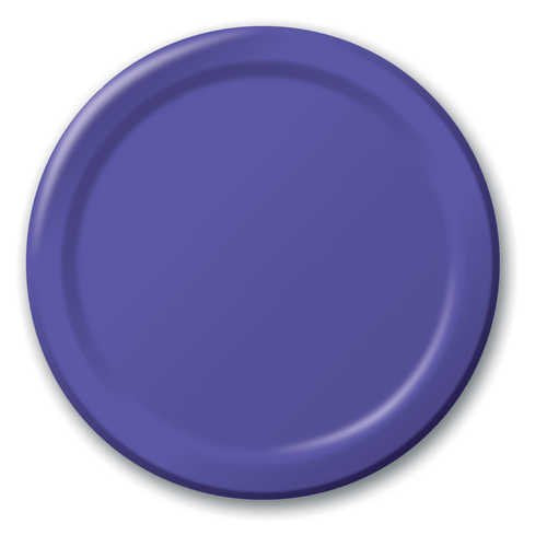 Creative Converting 50115B Purple Banquet Plate, Solid (10pks Case)