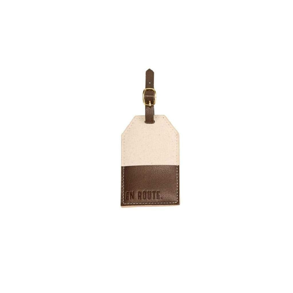 "Mud Pie""En Route"" Canvas Luggage Tag"