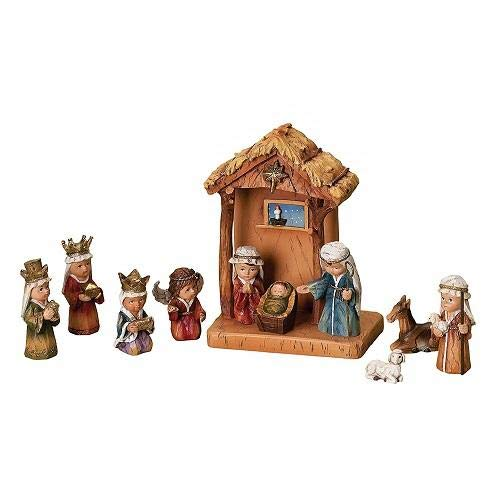 Roman 12145X Nativity Set Stable & Nativity Pageant - 8 in.