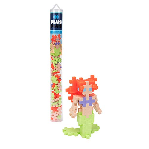Plus-Plus - Construction Building Toy, Mini Maker Tube - 70 Piece - Mermaid
