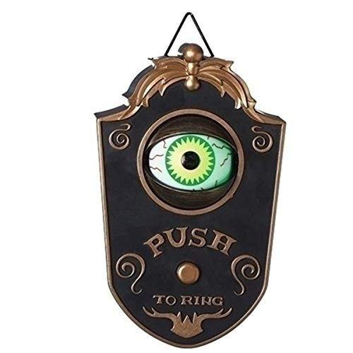 Haunted Doorbell Animated Eyeball Halloween Decoration with Spooky Sounds