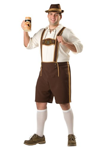 InCharacter Bavarian Guy Plus Size Costume-2X Brown