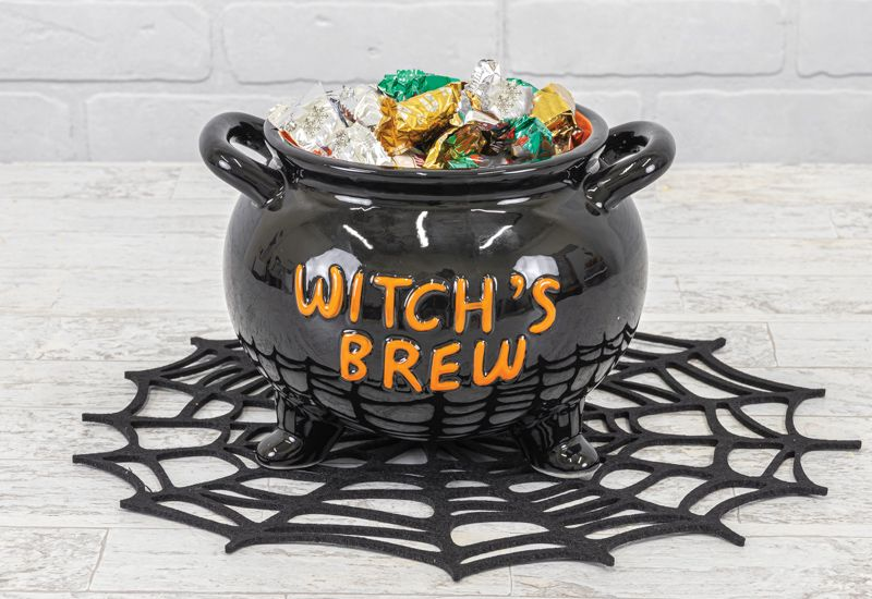 WITCH'S BREW CAULDRON CANDY DISH