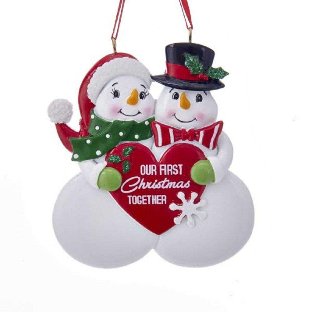 "Kurt Adler ""OUR FIRST XMAS TOGETHER"" ORNAMENT, 3.75 inches"