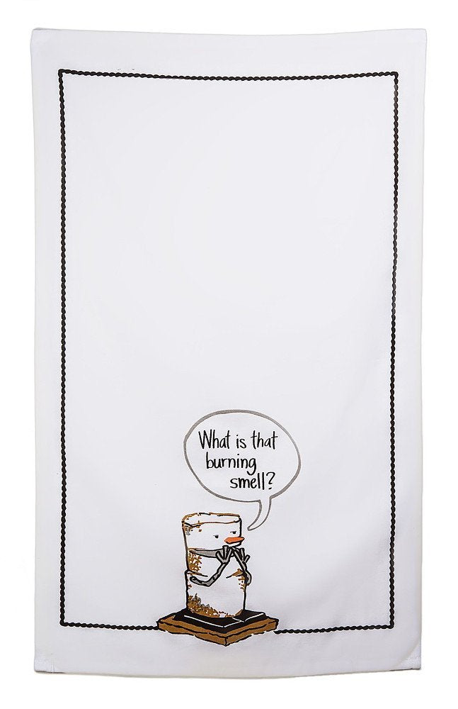 "Midwest CBK S'mores ""Burning Smell"" Cotton Tea Towel"