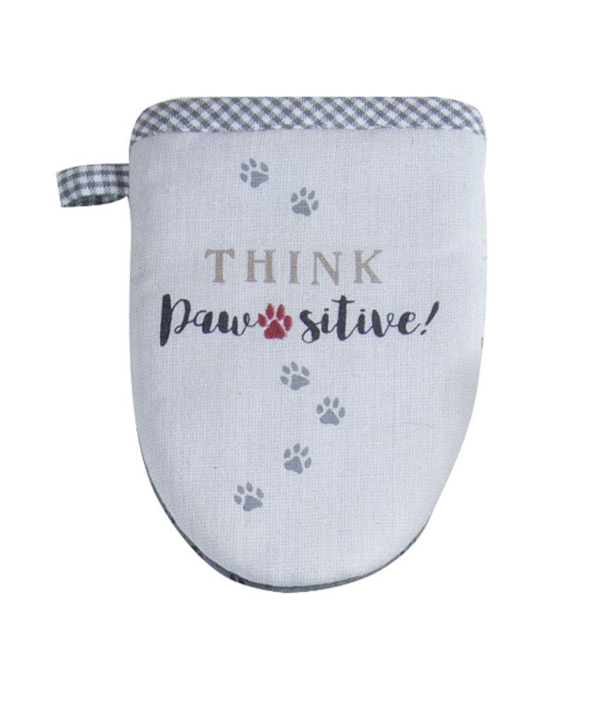 "Kay Dee Designs Pawsitive Embroidered Grabber Mitt, 5.5"" x 7.5"", Various"
