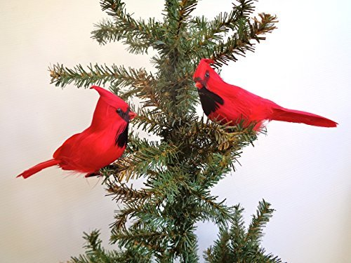 RAZ Imports - 7-inch Clip-On Cardinal Ornaments