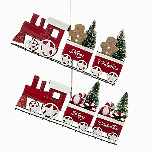 "Kurt Adler ""MERRY CHRISTMAS"" TRAIN ORNAMENT"