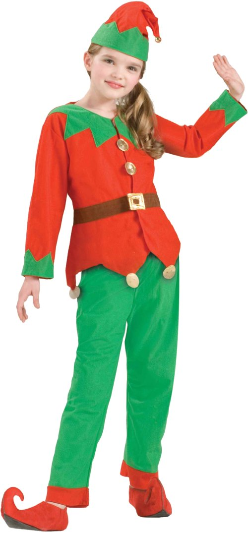 CHILD Christmas Santa's Helper Simply Elf Holiday Unisex Boys Girls Costume
