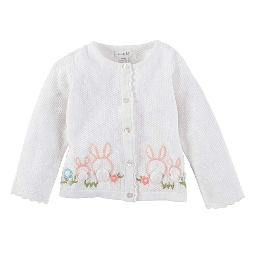Mud Pie Baby Girl's Bunny Sweater (Infant) White