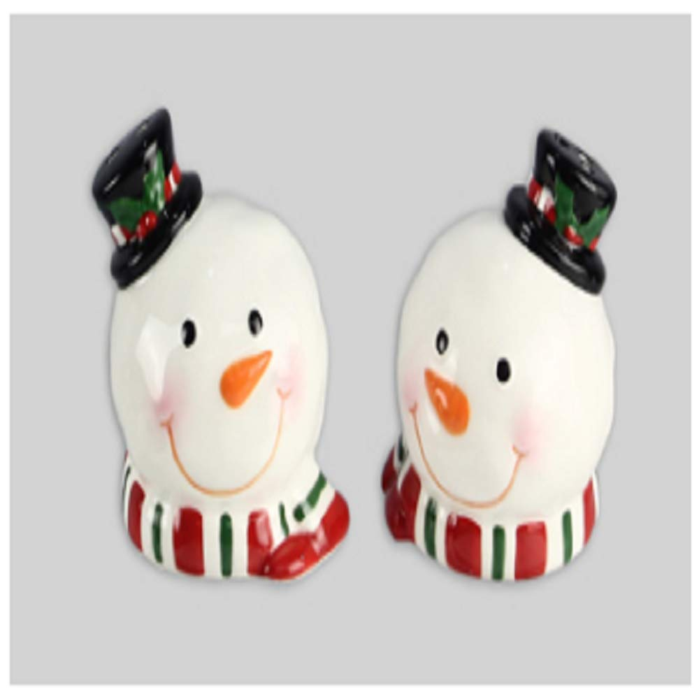 youngs Snowman Ceramic S&P Set of 2