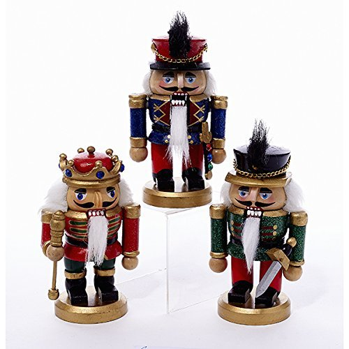 "Kurt S. Adler 5"" Wooden Nutcrackers -"