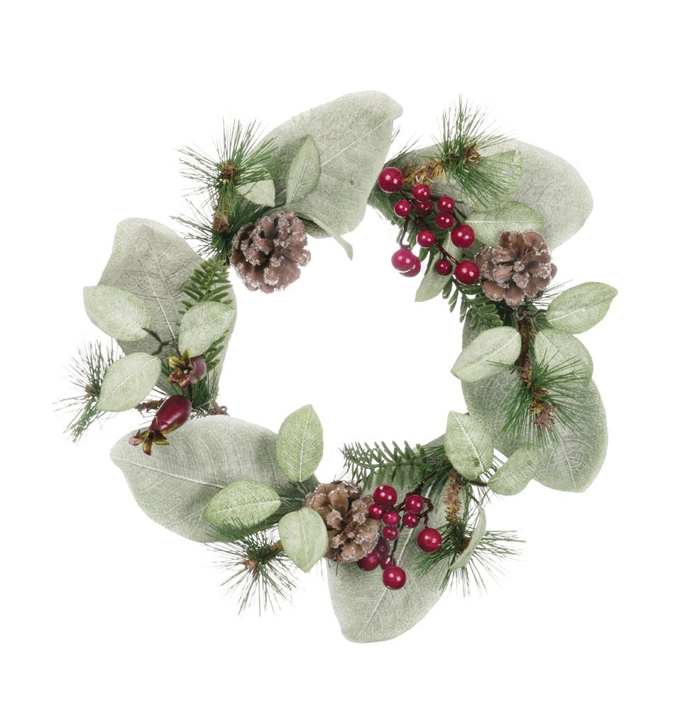 "Sullivans 6.5"" Pinecone & Berry Candle Wreath"