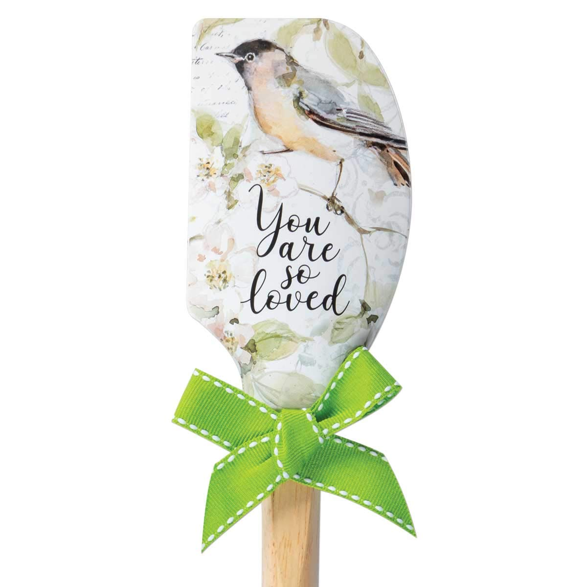 Brownlow Gifts 69856 Simple Inspirations Silicone Spatula, 12.5-Inch, You Are So You Are So Loved