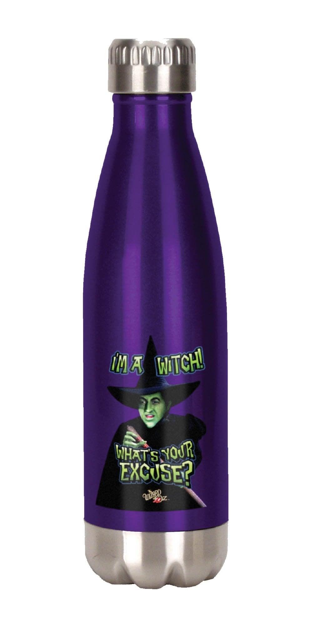 Spoontiques I'm A Witch Stainless Steel Water Bottle, Purple