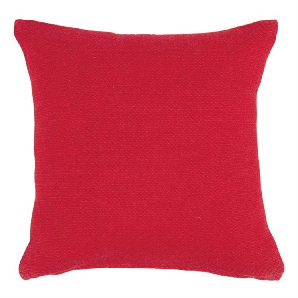Mud Pie GRAINSACK & RED CANVAS REVERSIBLE PILLOW