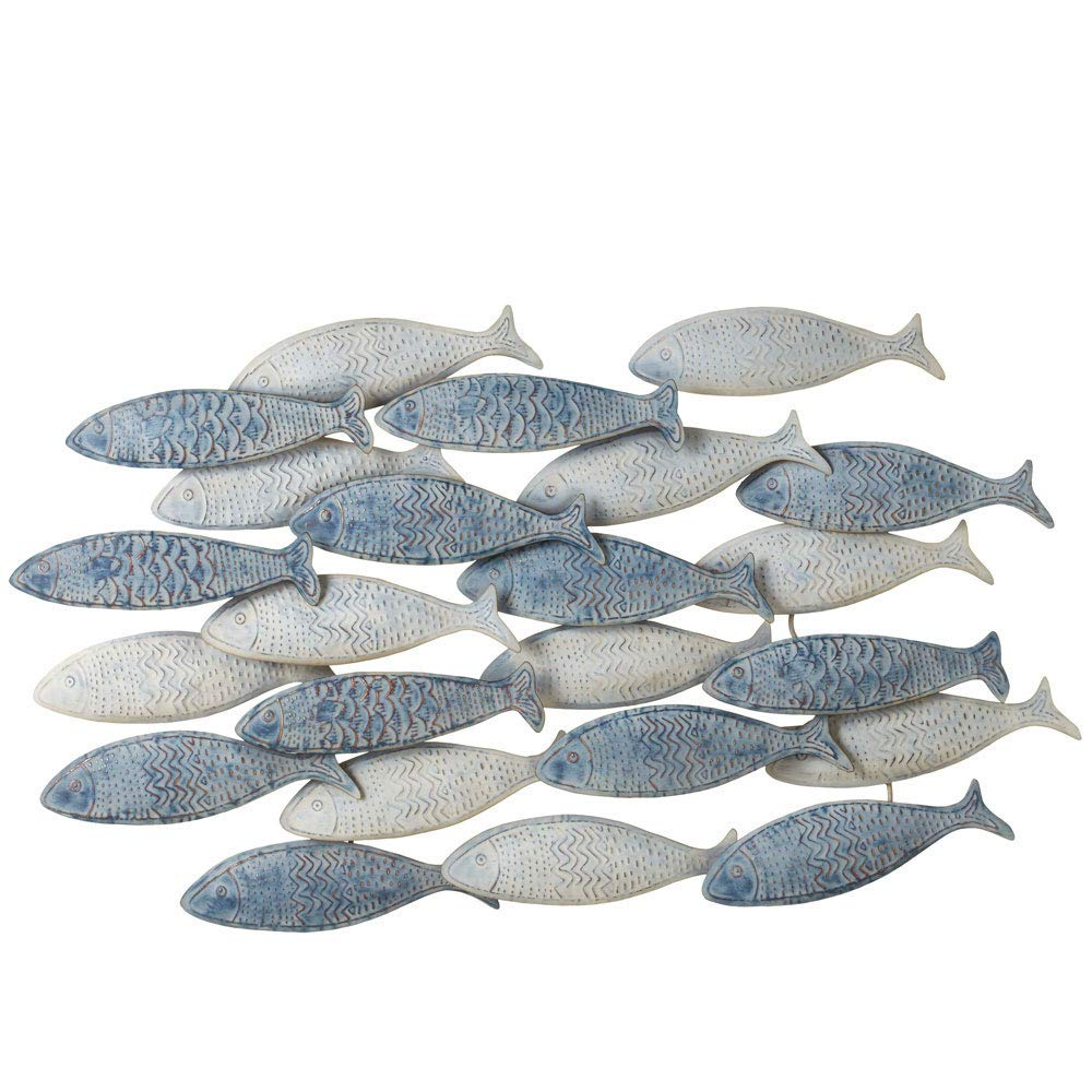 Midwest-CBK Ganz Weathered Layered Embossed Fish Wall Decor