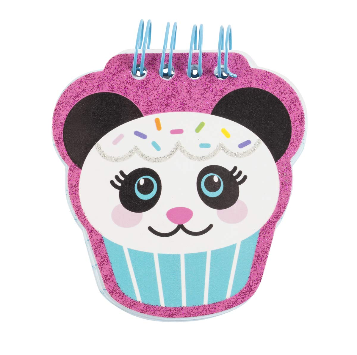 Girls Locking Writing Journal - Soft Plush Panda Design - 140 Pages with Bonus Mini-Me Notepad