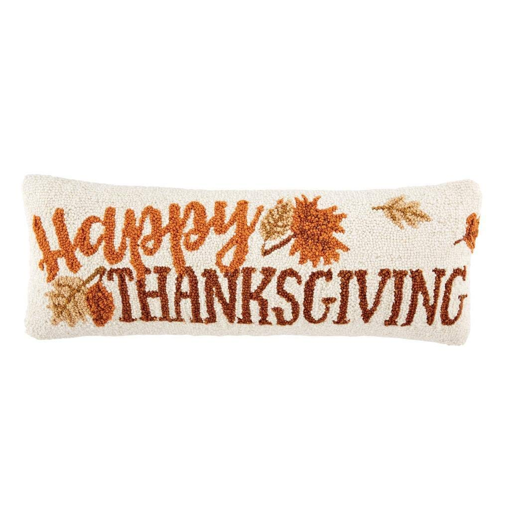 Mud Pie Happy Thanksgiving Decorative Throw Pillow