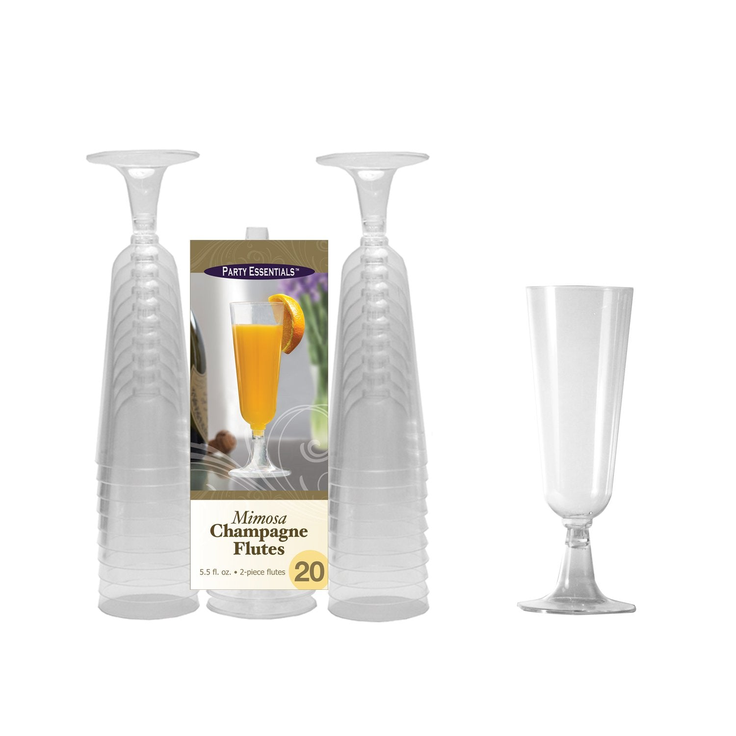 Party Essentials N552021 Party Supplies Tableware, 5 oz, Clear