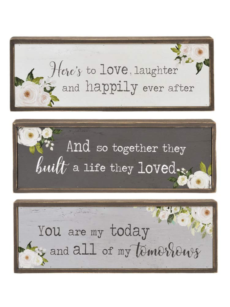 Ganz Rustic Country Chic Shelf Signs Wedding Decor