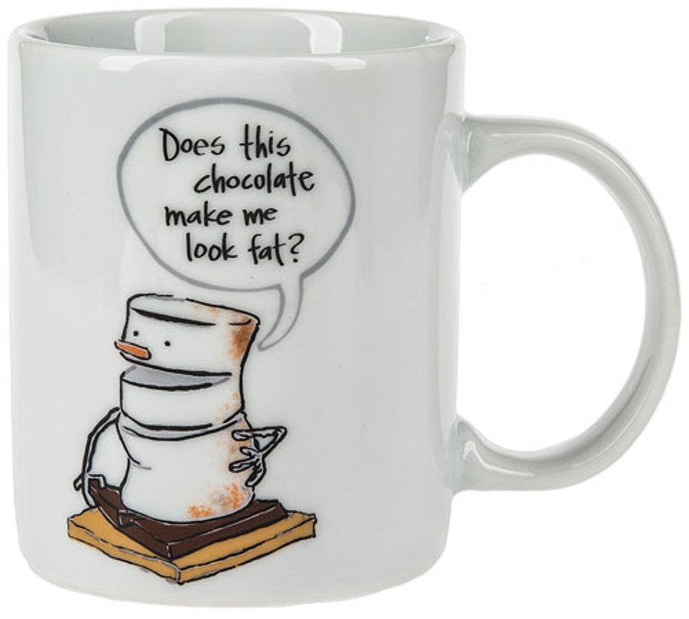 "Midwest-CBK Toasted S'mores ""Does This Chocolate Make Me Look Fat?"" Mug, 11 Ounce"
