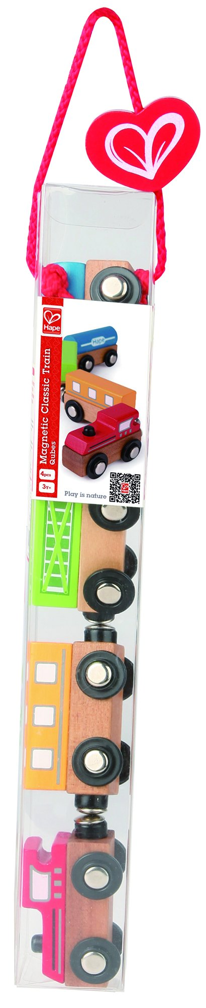 Hape Qubes Wooden Magnetic Classic Train Set