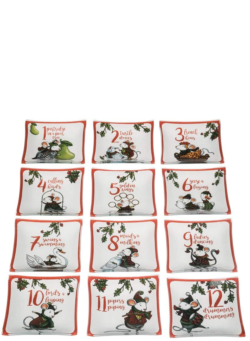 Sullivans 12 Days of Christmas Plates Set of 12