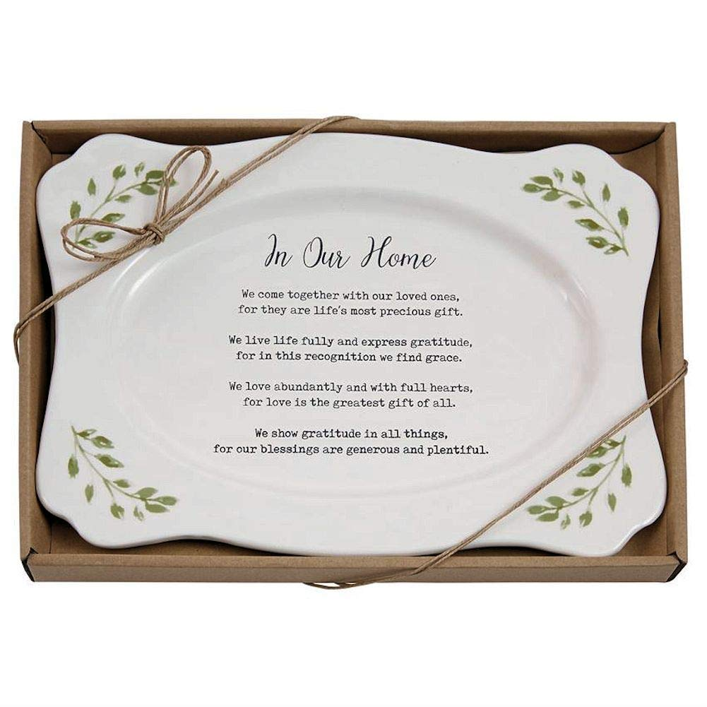 "Mud Pie""In Our Home"" Platter Size: 8"" x 11 1/2"""